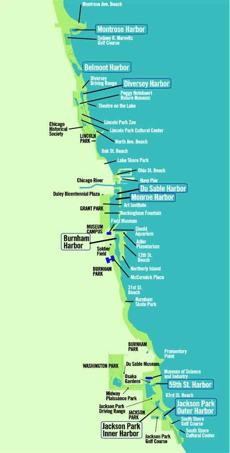 map of chicago lakefront bill s swimchicago chicago lakefront trail swim
