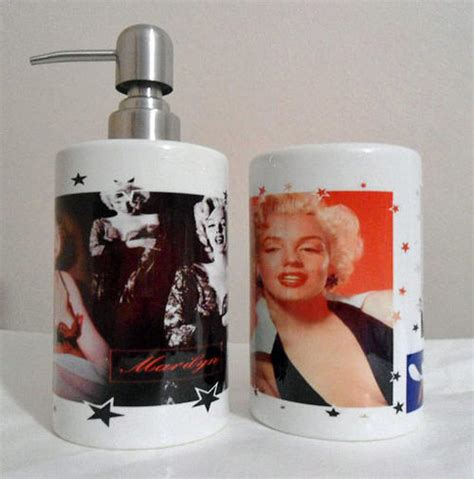 bathroom accessories marilyn printed soap or