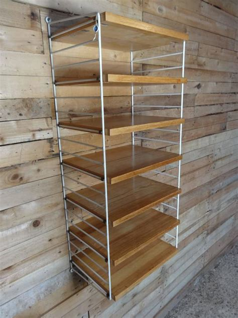 items similar to vintage string shelving unit wall mid retro 1950s tall string wall system shelving unit for sale