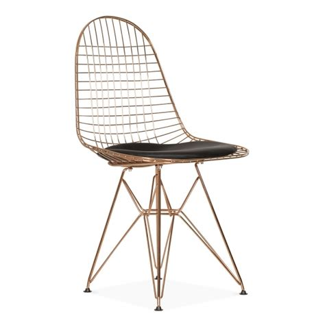 Charles Eames Wire Chair by Eames Copper Dkr Wire Chair Cafe Dining Chairs Cult