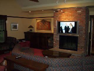 Mount Tv Brick Fireplace by Tv Installation Fireplace Solderblogs