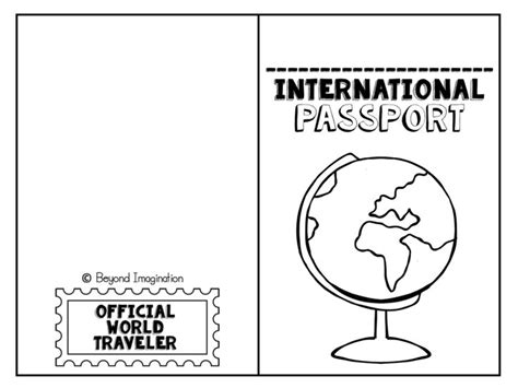free international passport for kids to use and play with