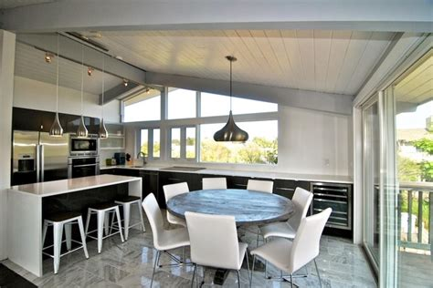 beach house renovation 80 s beach house renovation fire island modern dining room new york by a2