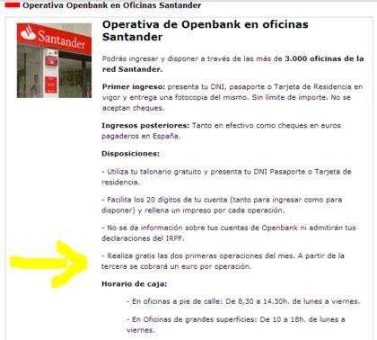 oficinas openbank 191 se puede ingresar dinero en cuenta openbank en oficinas