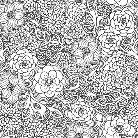 doodle putri quot flowers doodle seamless pattern black and