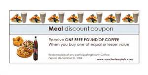 free meal coupon template food voucher template template