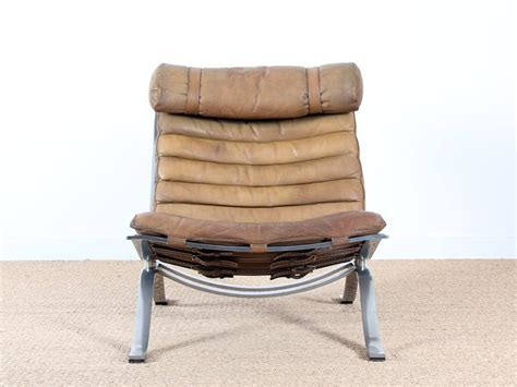 brown leather armchairs by arne norell for norell set of