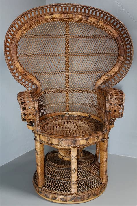 1960s armchair antiques atlas 1960 s rattan peacock chair