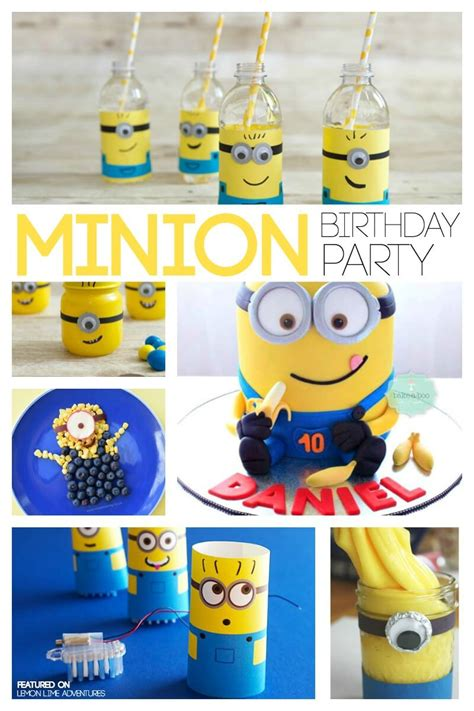 birthday themes minions totally awesome minion birthday party ideas
