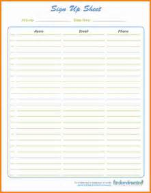 doc 500608 printable sign up sheet template bizdoska com
