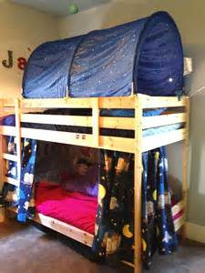 Tent For Bunk Bed Bunk Bed Forts Fumbleweeds
