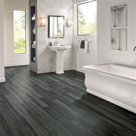 walnut bathroom flooring armstrong luxe plank with rigid core empire walnut raven