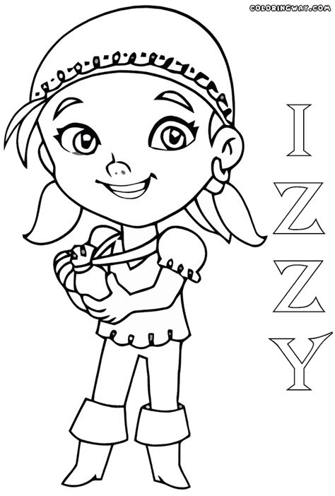 izzy the pirate coloring pages coloring pages to