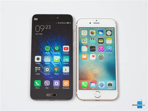 xiaomi mi 5 vs apple iphone 6s
