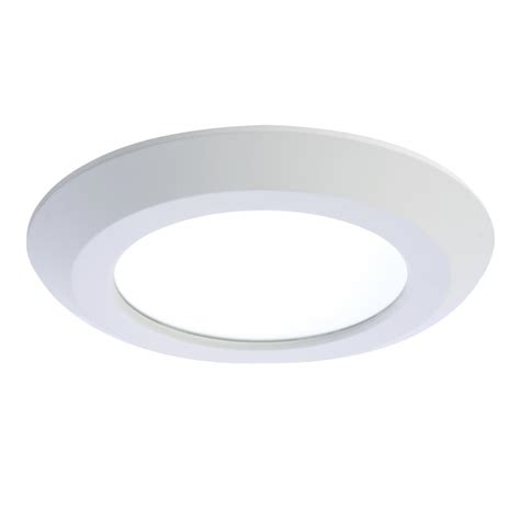 Recessed Light Fixtures For Ceilings Halo Sld 5 In And 6 In White Integrated Led Recessed Retrofit Ceiling Mount Light Fixture At