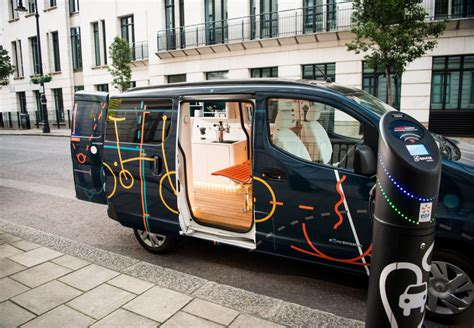 nissan nv200 office nissan creates s all electric mobile office