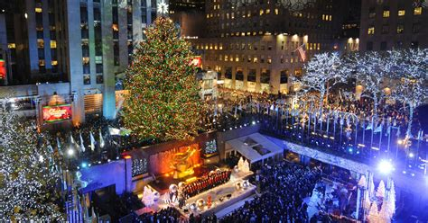 how many lights are on the rockefeller tree the rockefeller center tree lights up cbs news