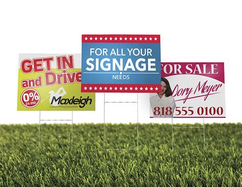 backyard signs custom yard signs outdoor signage spectracolor simi