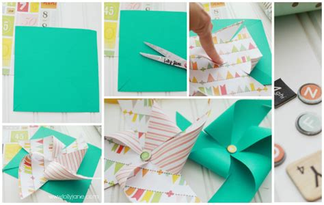 Make Pinwheels Out Paper - summer decor paper pinwheel