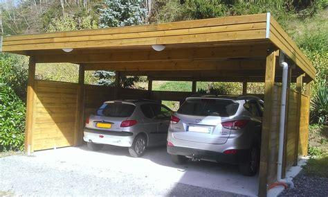 Garage En Bois Pour Voiture by Carport Voitures