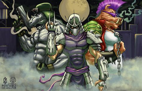 tmnt shredder bebop rocksteady by chrisozfulton on deviantart