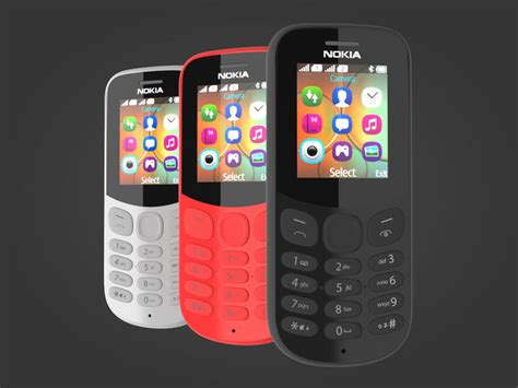 Nokia 130 Ds 2017 Black nokia 130 2017 all colors 3d cgtrader