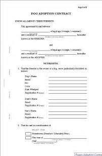 For dog breeders puppy adoption contract