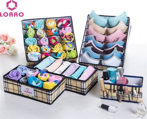 loaao 5 in1 cosmetic storage box home organizer box socks