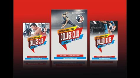 Poster Design Using Coreldraw 12 | how to make gym poster design using coreldraw x6 youtube
