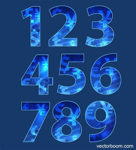 vector tutorial text how to create numbers with random texture using