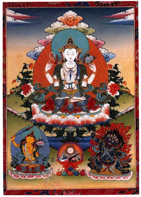 buddhist iconography thangka of avalokitesvara bodhisattva