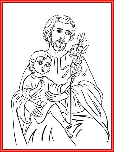 st joseph catholic coloring page feast of st joseph