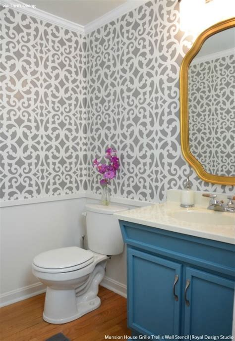 wall stencils for painting bathroom 1000 images about stenciled painted walls on pinterest