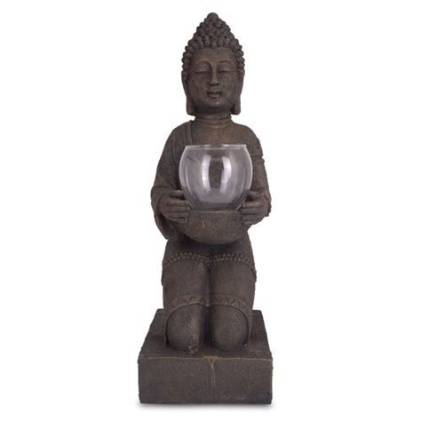 Kneeling Large Buddha Ornament With Tealight Holder For