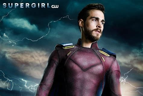 liberty star superhero alex david new supergirl poster shows mon el fully suited up