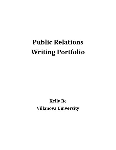 pr portfolio template pr writing portfolio