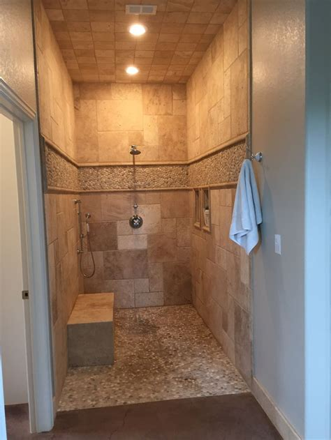 25 best ideas about travertine shower on
