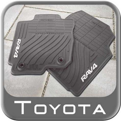 Toyota Rav4 Mats 2013 2015 toyota rav4 rubber floor mats all weather black