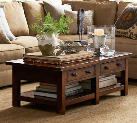 pottery barn benchwright coffee table benchwright rectangular coffee table