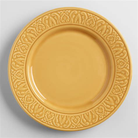 amber dinner plates set of 4 world market