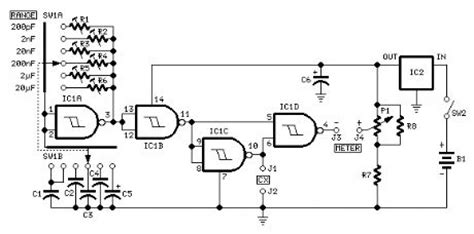 capacitance meter circuits index 13 measuring and test circuit circuit diagram seekic