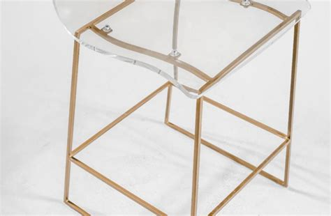 Gabby King Bar Stool by Clear Acrylic Bar Stool Lucite And Gold King Gabby