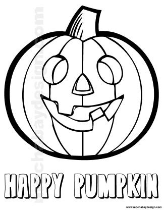 smiling pumpkin coloring pages smiling pumpkin printable halloween kids coloring page