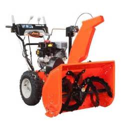 home depot snowblower ariens deluxe 28 in two stage electric start gas snow