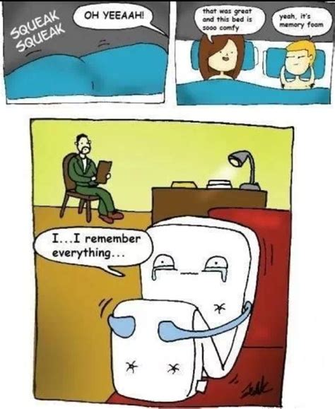 bed puns poor memory foam
