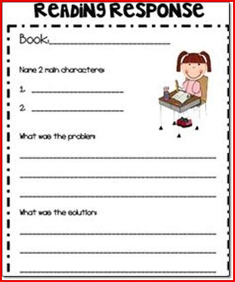Reading Response Worksheets by Reading Strategies Worksheets Worksheets Tutsstar