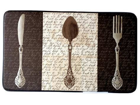 kitchen forks and knives knife fork spoon silverware kitchen comfort mat