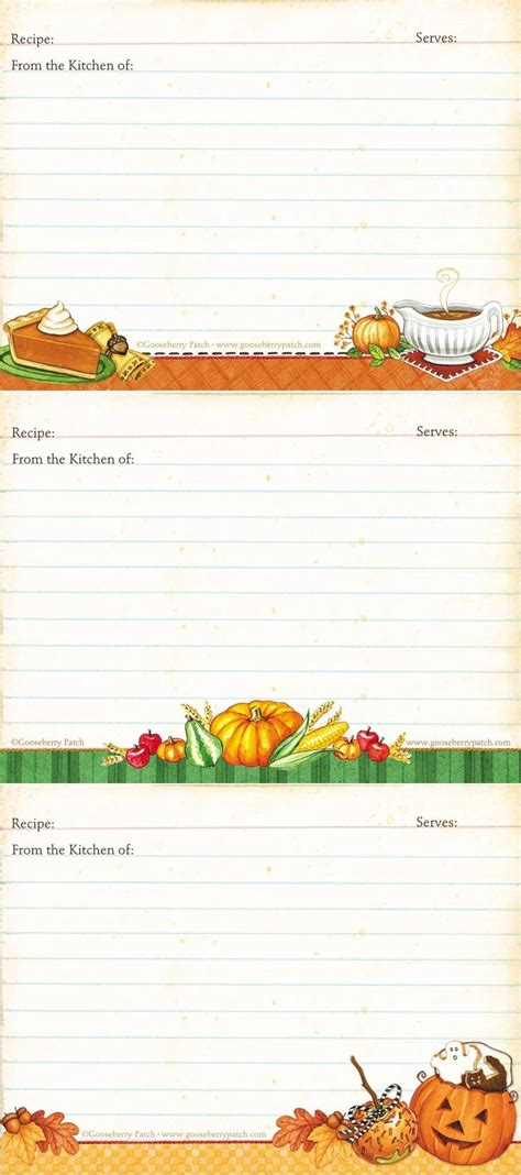 fall recipe cards templates best 25 recipe templates ideas that you will like on