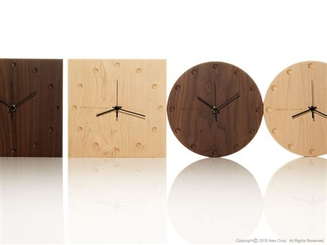 Wooden Clocks by Hacoa Wall Clock Table Clock Products Alexcious
