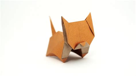 How To Make A Origami Cat - origami neko cat jo nakashima remake